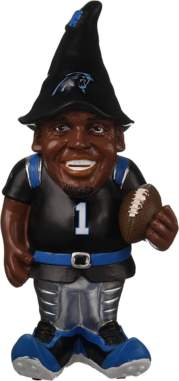 "FOCO NFL Carolina Panthers Cam Newton #1 Resin Player Gnome, 8"", Team Color"