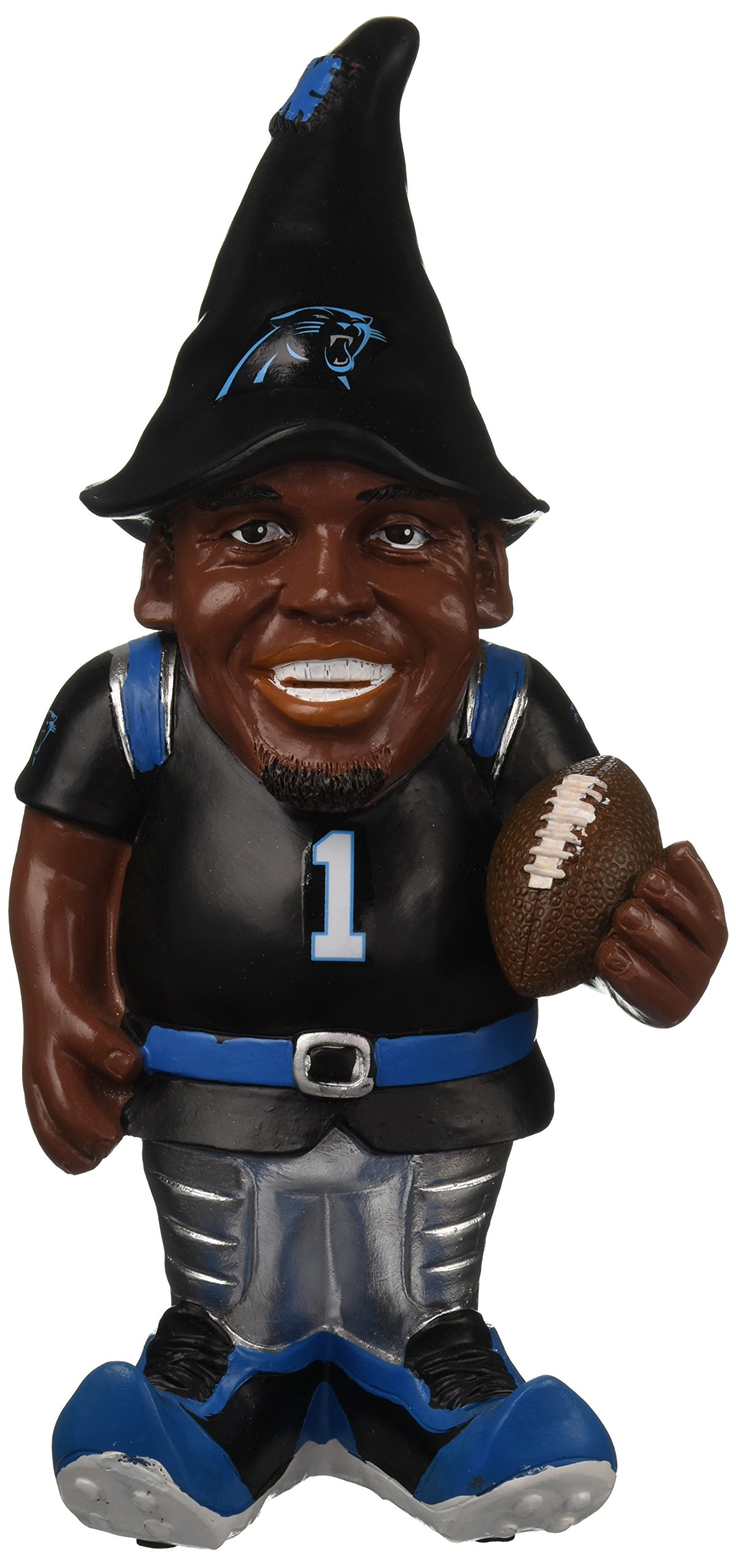 FOCO NFL Carolina Panthers Cam Newton #1 Resin Player Gnome, 8'', Team Color