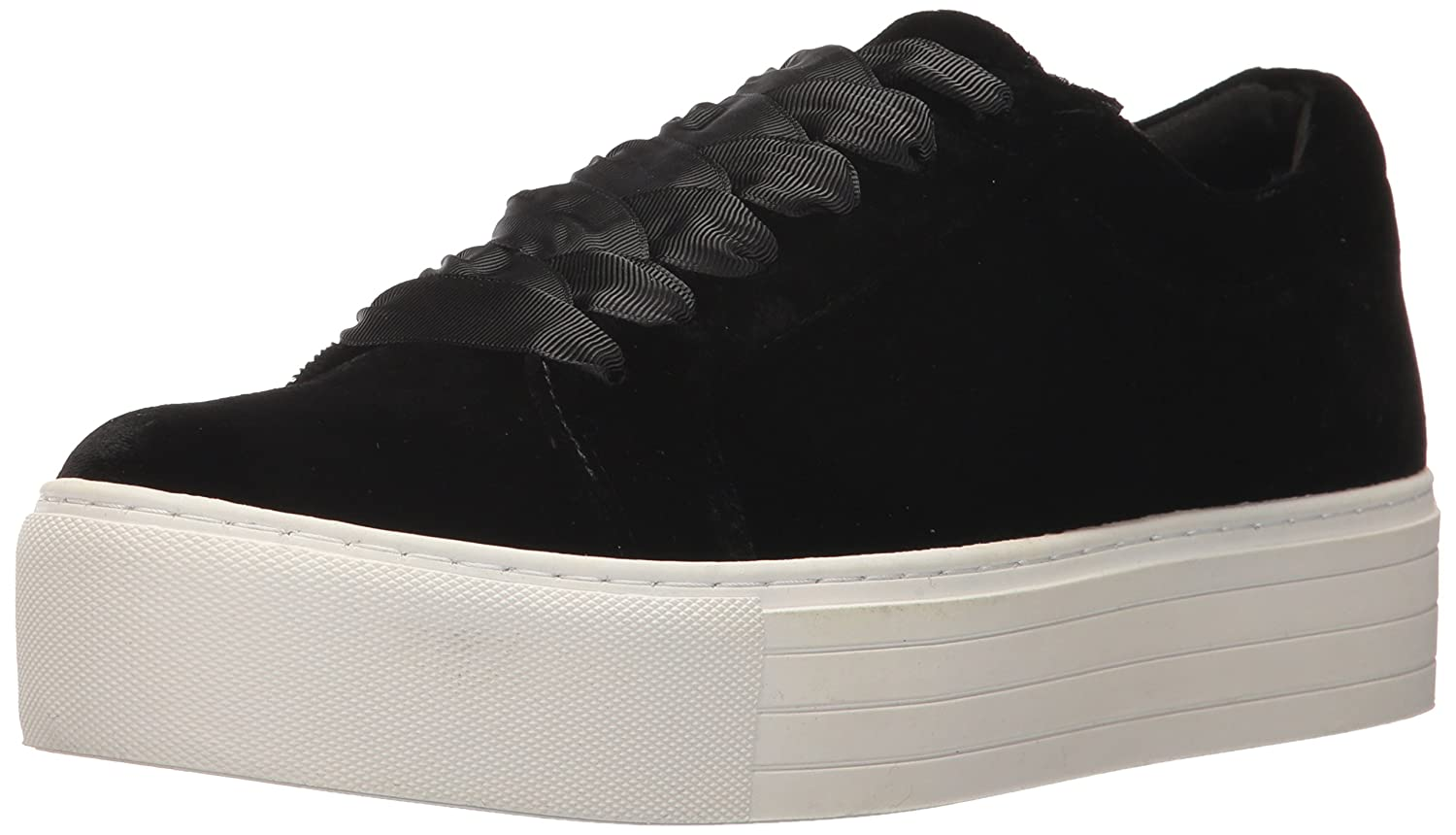 Kenneth Cole New York Women's Abbey Platform Lace up Velvet Fashion Sneaker B07194Z55X 10 B(M) US|Black