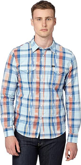 Lee, Lee Western Shirt True Blue - Camisa de manga larga para ...