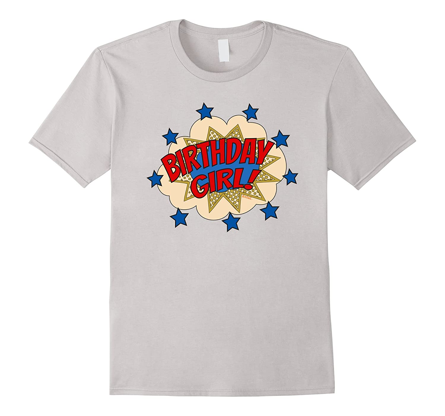 Birthday Superhero T Shirt Girl Word Bubble With St BN