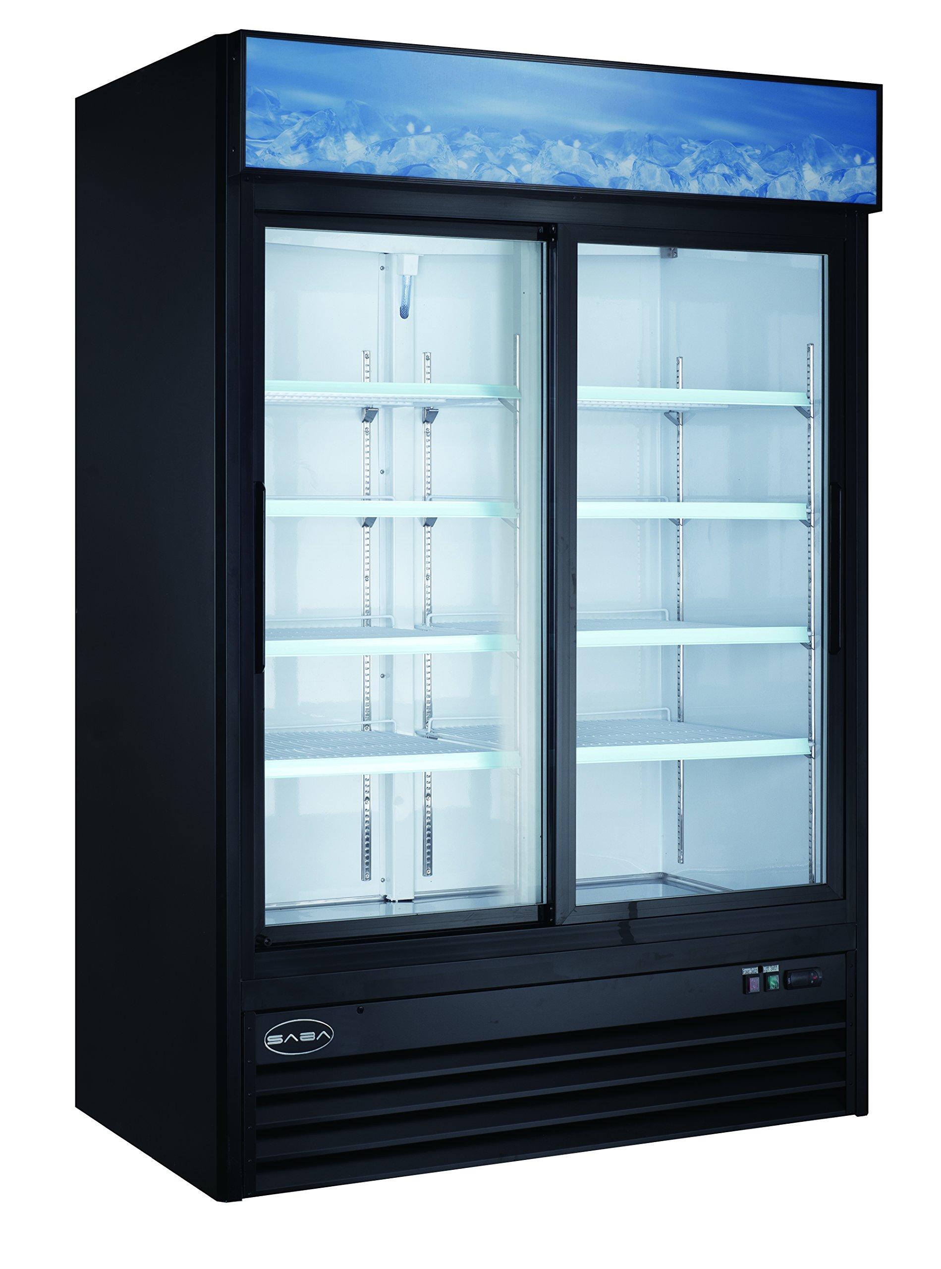 Two Sliding Glass Door Reach-In Refrigerator Cooler Merchandiser Display Case