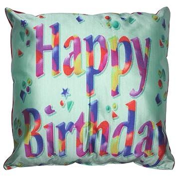 Twisha Happy Birthday Multicolour Pillow 12 X 12 X 4 Inch