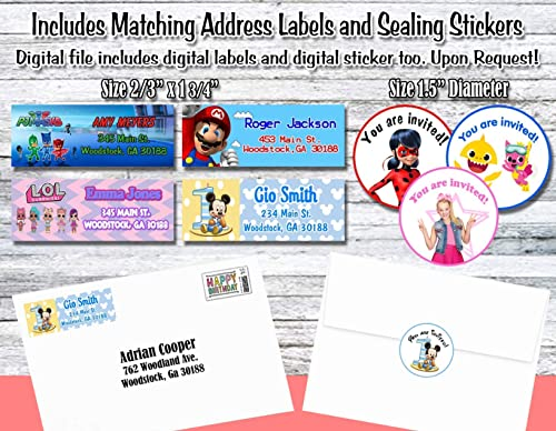 Stickers Coco birthday invitations Birthday supplies. Envelopes included Birthday party invitations Matching envelopes Personalized