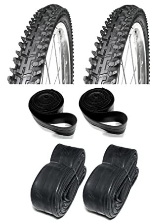 "Bicicleta de montaña 26 ""Set Par neumáticos tubos cintas MTB bicicleta semi-slick"