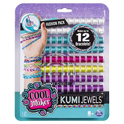 Cool Maker – Kumi Fashion Pack, Makes Up to 12 Bracelets with The KumiKreator, for Ages 8 and Up (Colours and Styles Vary): Toys & Games