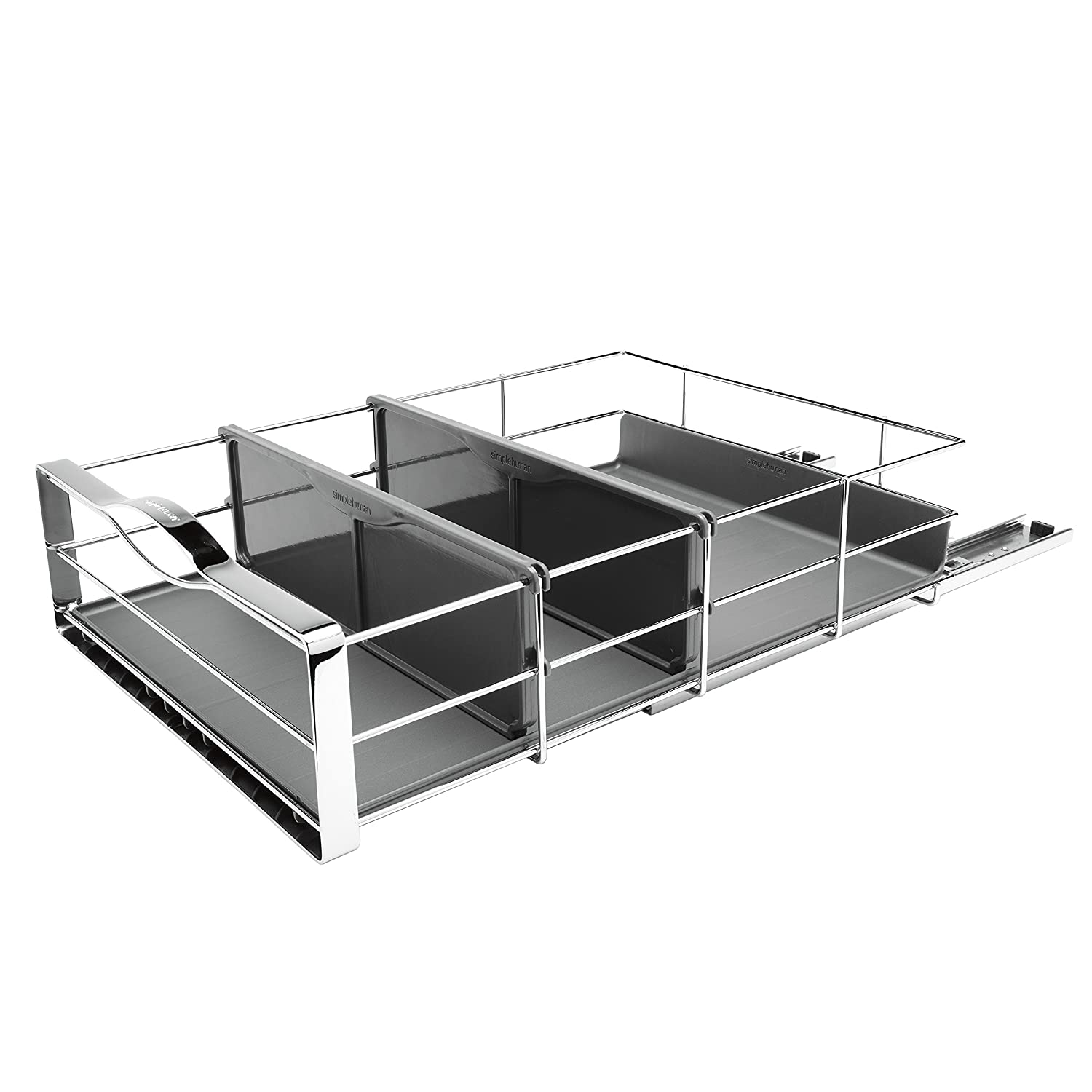 simplehuman 14 inch Pull-Out Cabinet Organizer, Heavy-Gauge Steel Frame