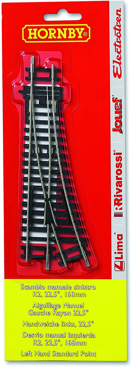 Hornby HT8302 R8072 Left Hand Point x 1 BLISTER PK Track Accessory