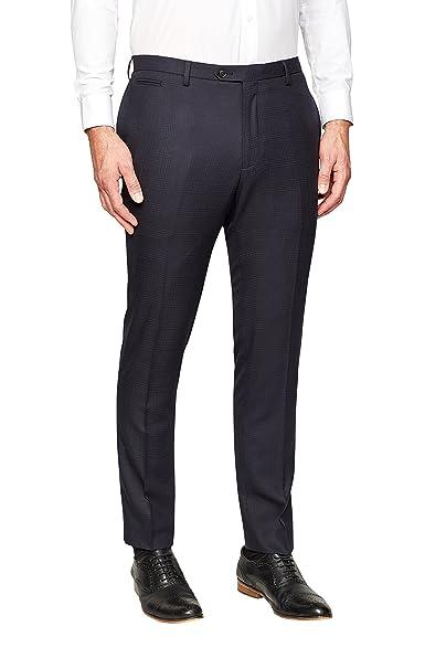 next Hombre Pantalones De Traje Pitillo Corte Ajustado A ...