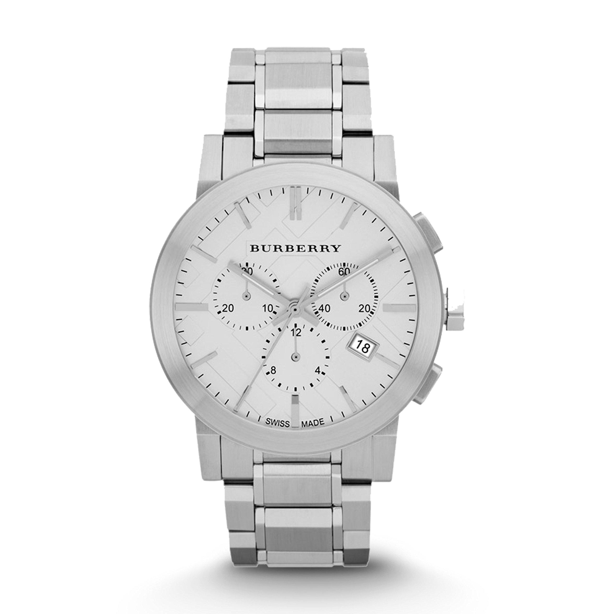 Burberry Watch, Men's Swiss Chronograph Stainless Steel Bracelet 42mm BU9350 by BURBERRY