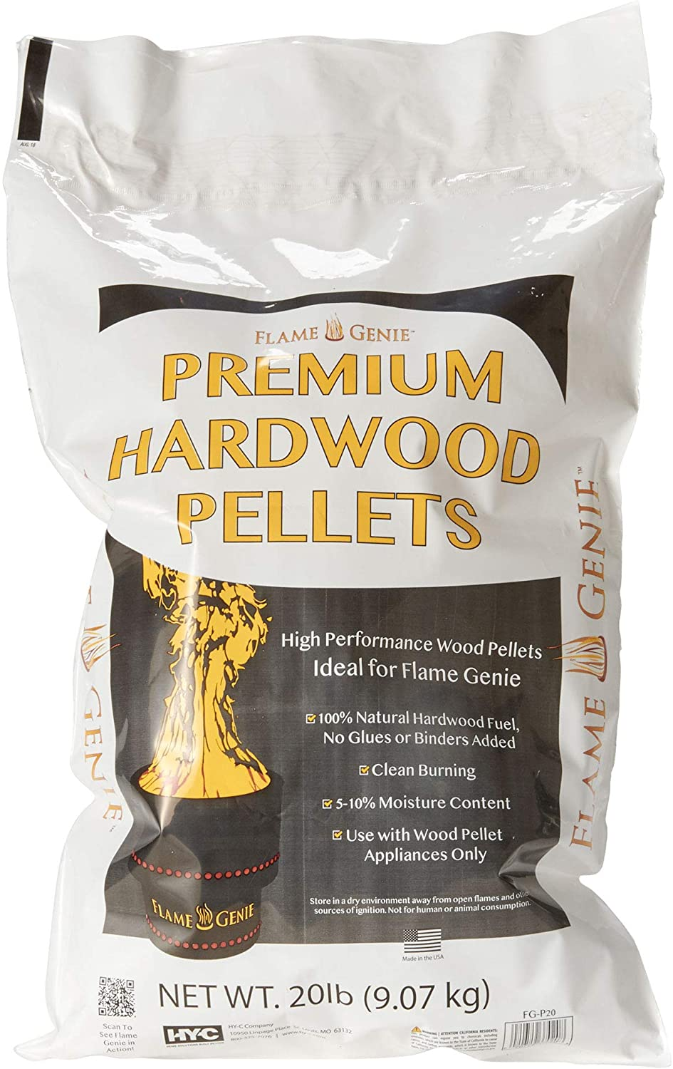 HY-C FG-P20 Premium Wood Pellets for Fire Pits