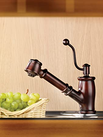 Mico 7711-MB Seashore One Handle Pull-Out Spray Kitchen Faucet ...