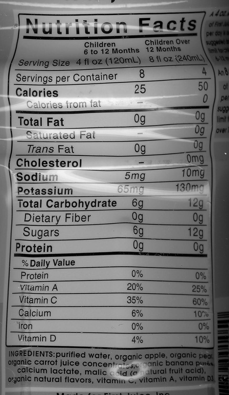 First Juice Organic Apple Carrot 32