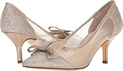 33e943cadbf19 Nina Women s Bianca Beige Champagne Baby Glitter Mesh 11 M US ...