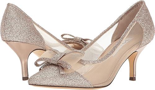 403731266f0 Nina Women s Bianca Beige Champagne Baby Glitter Mesh 7.5 M US ...
