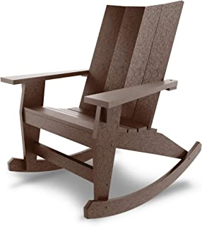 product image for Hatteras Hammocks Chocolate Adirondack Rocker, Eco-Friendly Durawood, All Weather Resistance, Fit 'N' Finish Handcrafted in The USA