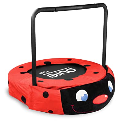 PF Fun, Cute and Super Adorable 36-inch Plush Jumper Kids Trampoline with Handrail - Ladybug, Delightful Gift Idea for Kids, Red : Sports & Outdoors