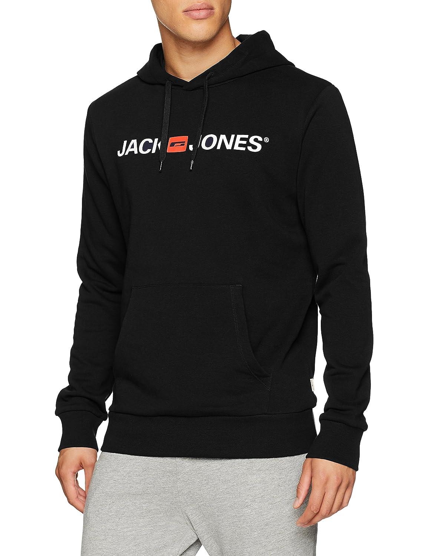 Medium JACK /& JONES Herren JJECORP LOGO SWEAT HOOD NOOS Kapuzenpullover Schwarz Black Detail:Reg Fit