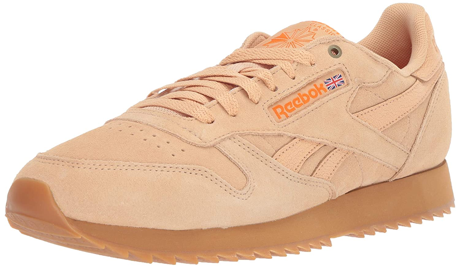 d7249416a4a50 Reebok Men's Classic Leather Sneaker Cappuccino/Pure Orange/Gum 6.5 M US