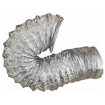 Abluftschlauch Schlauch Flexrohr Alu Ø 150 mm 3 Mtr Aluminium für Abzugshaube
