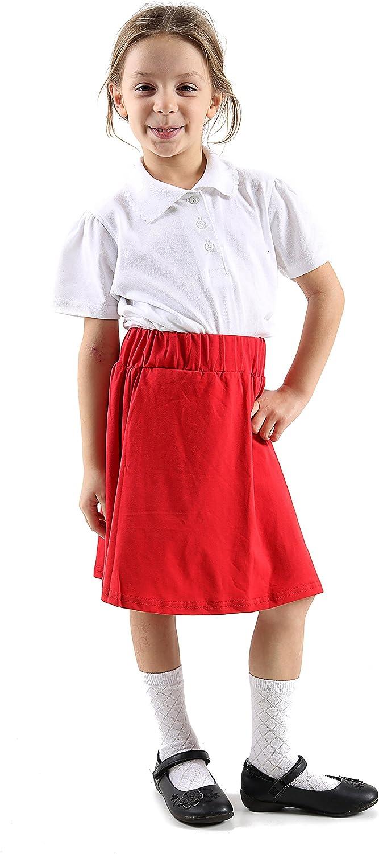 GW ClassyOutfit Girls Kids New Plain Skater*Skirts* Summer School Fashion Skirt Age 5-13