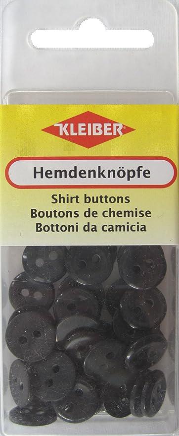 Kleiber - Botones de Camisa, tamaño pequeño, 40 Piezas, Color Negro: Amazon.es: Hogar
