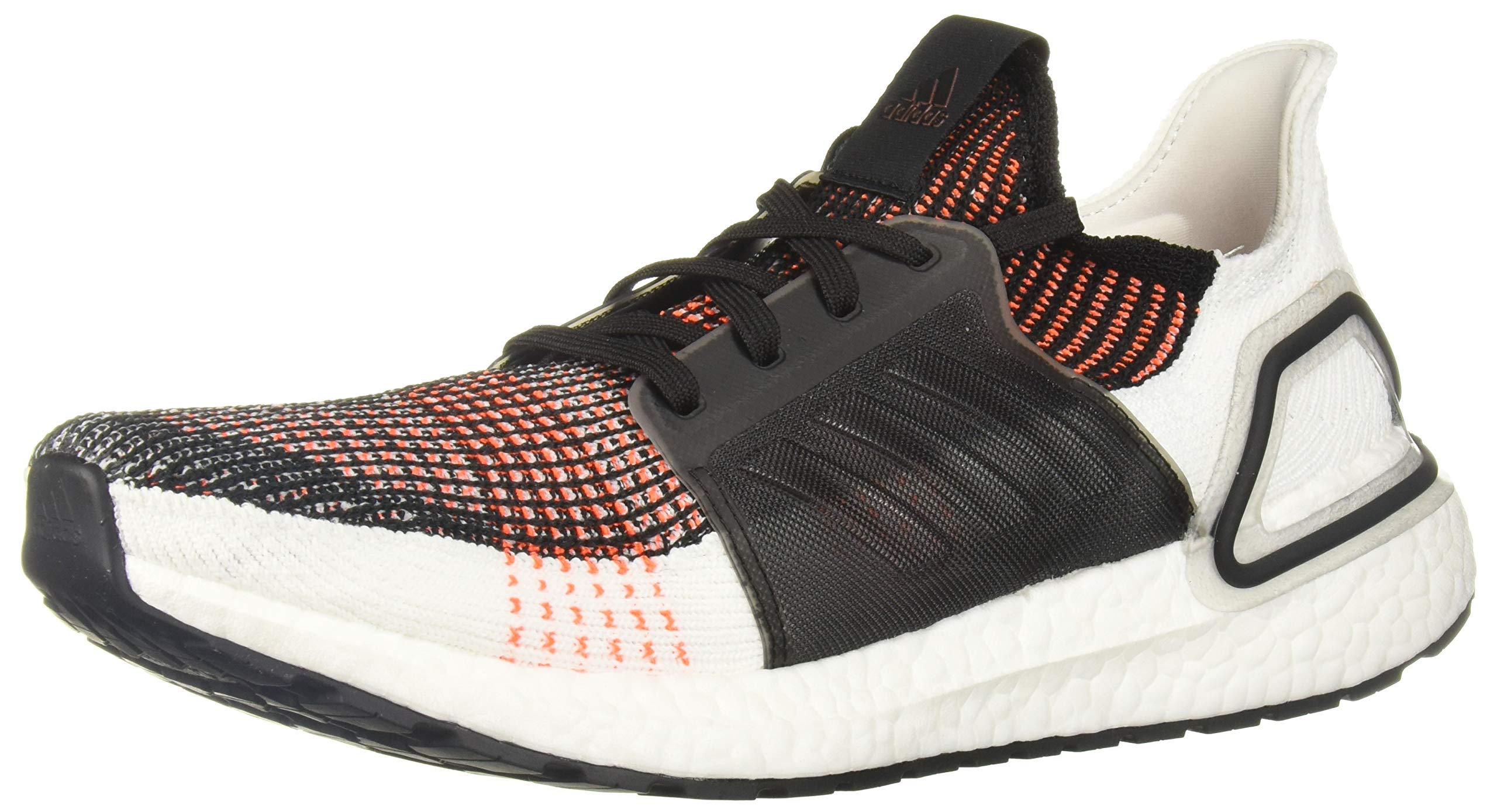 adidas Men's Ultraboost 19 Running Shoe, Black/White/Solar Orange, 7.5 M US by adidas