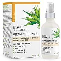 InstaNatural Vitamin C Facial Toner - Anti Aging Face Spray with Witch Hazel - Pore...