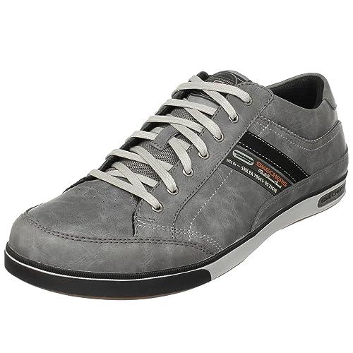 Lanyard Passport 50981 CHAR - Zapatillas de cuero para hombre, gris (dunkelgrau), talla 39 Skechers