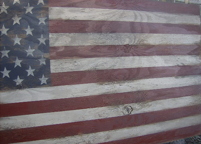 Amazoncom Distressed American Flag Wall Decor 46 X 25americana