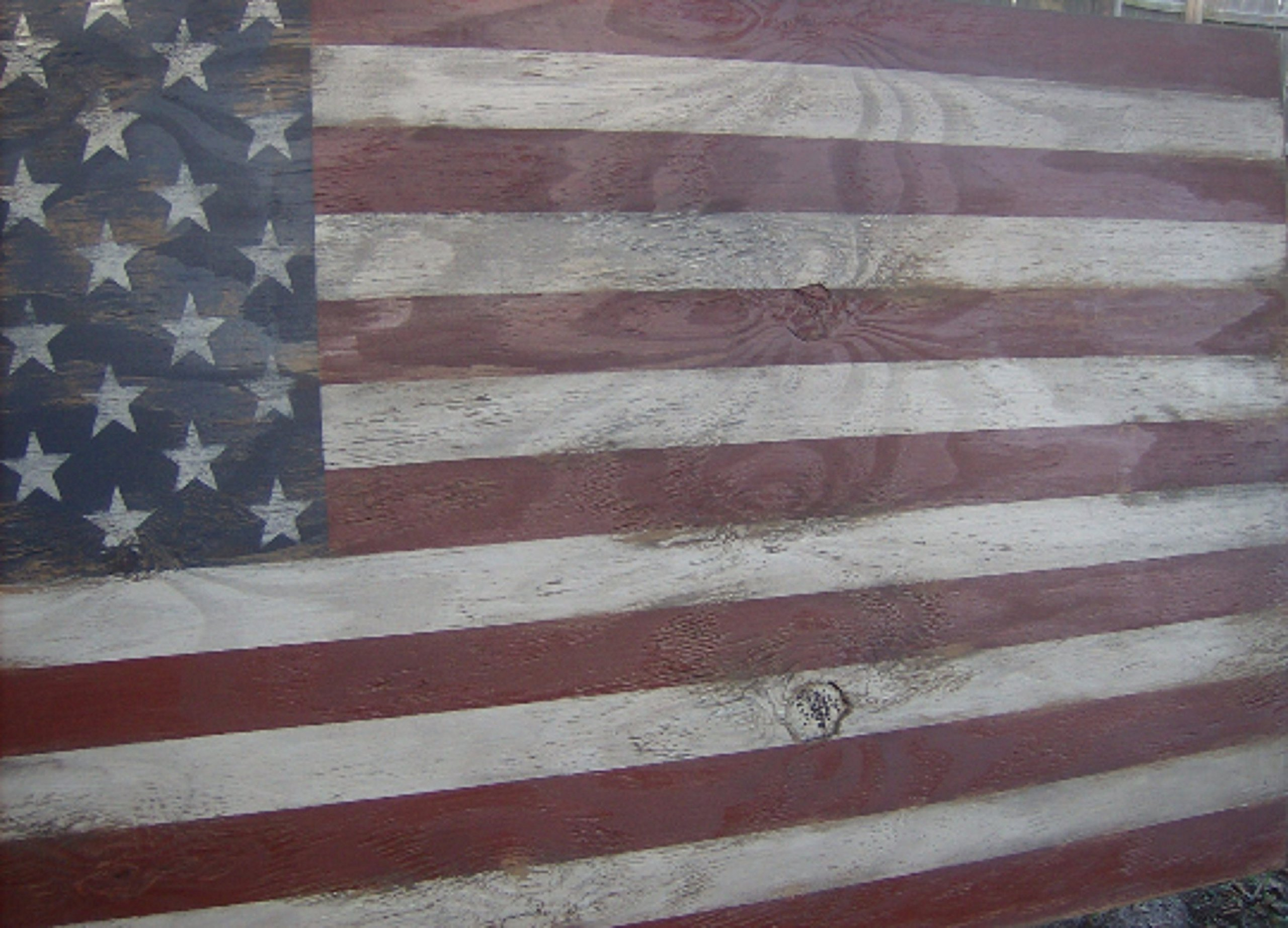 Distressed American Flag wall decor-46'' x 25''/Americana/Patriotic/Red White Blue