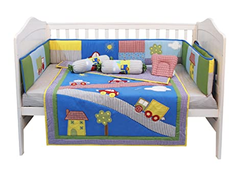 c791c0c9742e3 Buy Baby Cot/Crib Bedding Set (6 Pieces)- Beep Beep Online at Low Prices in  India - Amazon.in