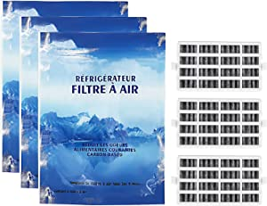 W10311524 Refrigerator Fresh Flow Filters Compatible With Whirlpool & Kenmore Refrigerators - Replaces AIR 1 AIR1 AP4538127 AH2580853 1876318 2319308 W10335147 W10315189 Pack of 3