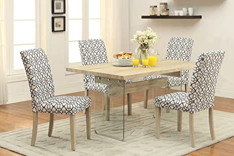 ACME Furniture 71905 Glassden Light Oak Dining Table With Tempered Glass  Base