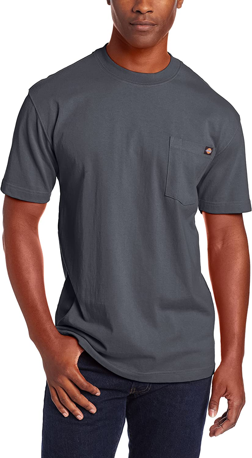 Dickies Men's Short Sleeve Heavyweight Crew Neck Pocket Tee |