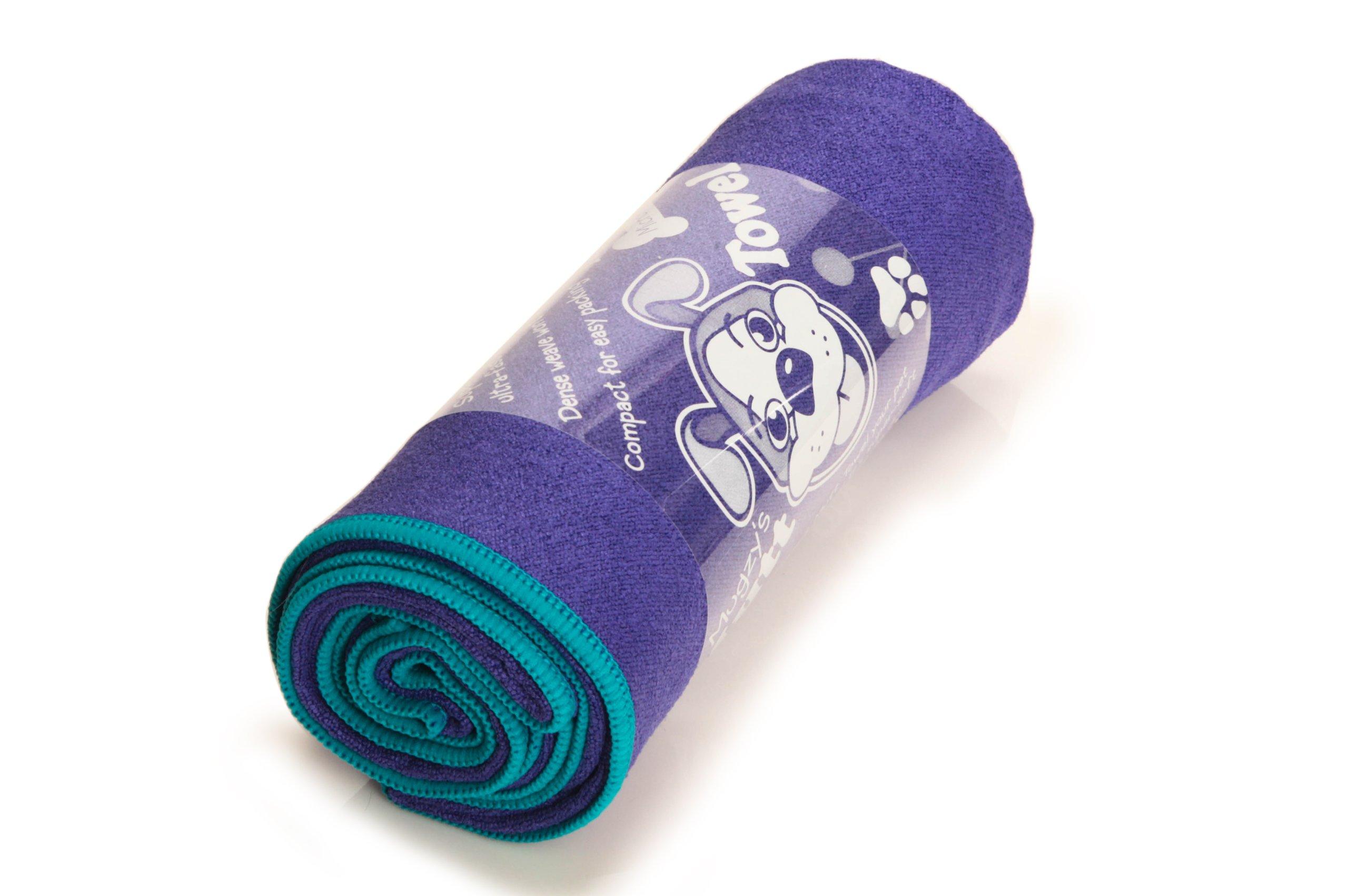 YogaRat Mugzy's Mutt Towel: Awesome 100% Microfiber pet towel attracts but won't trap fur - 28'' x 50''