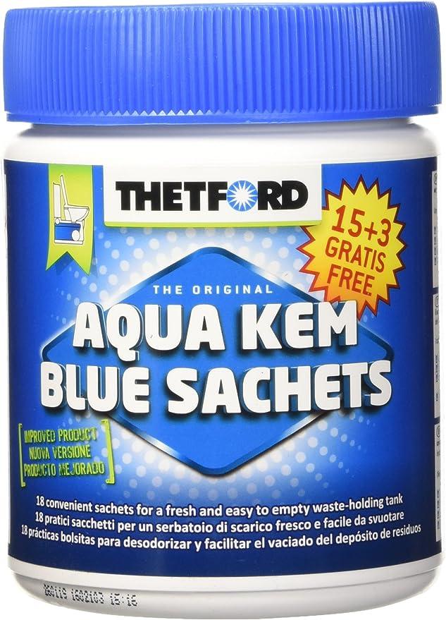 Thetford 200283/0915 Bolsas hidrosolubles monodosis para inodoro Aqua Kem (18 x 30 g)