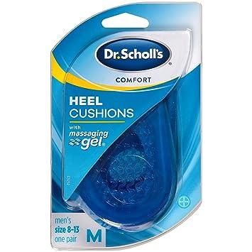 amazon com dr scholl s comfort heel cushions for men 1 pair size