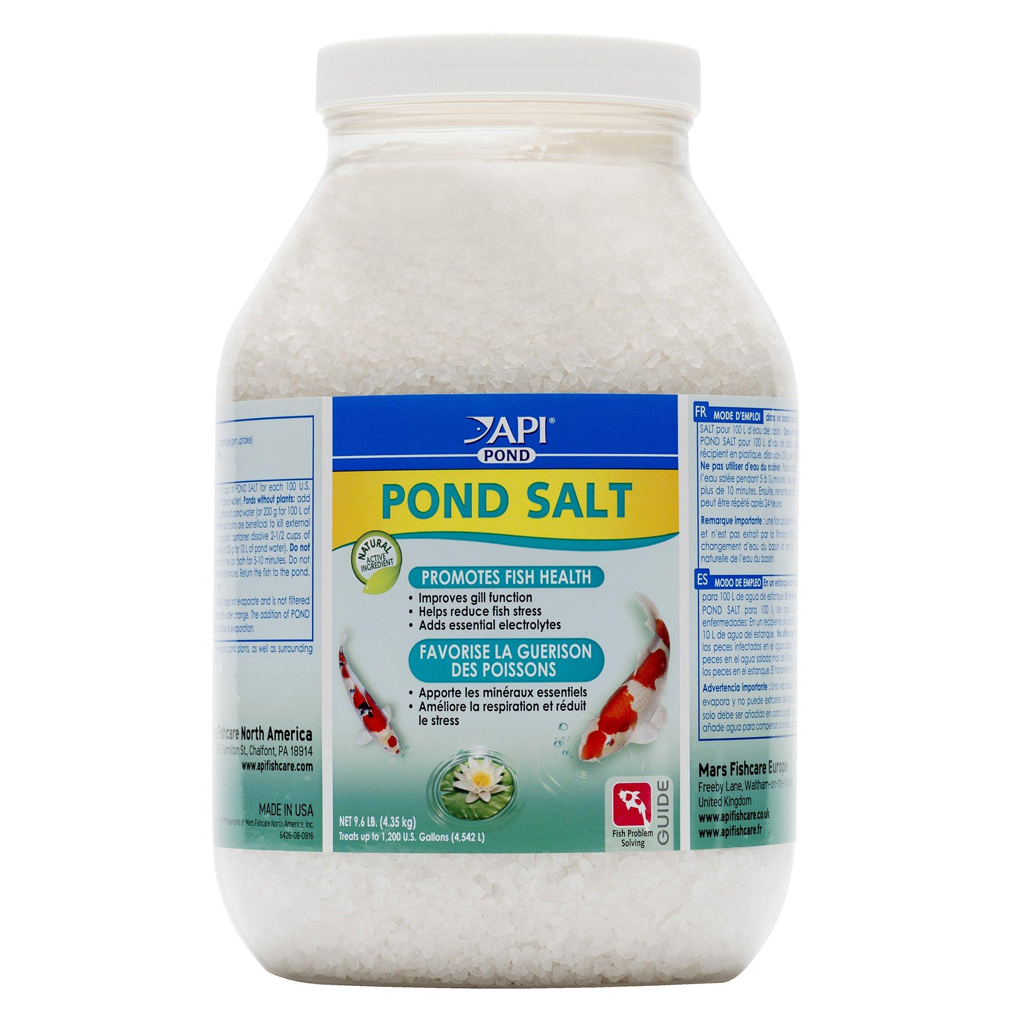 API POND SALT Pond Water Salt 9.6-Pound Container by API