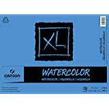 Canson XL Series Watercolor Textured Paper Pad for Paint, Pencil, Ink, Charcoal, Pastel, and Acrylic, Fold Over, 140…