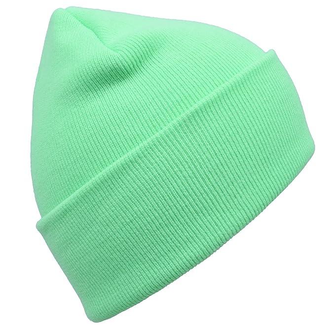 2c7562ae48710 PZLE Green Beanie Cycling Cap Green Mens Mint Green Winter Hat Caps Green