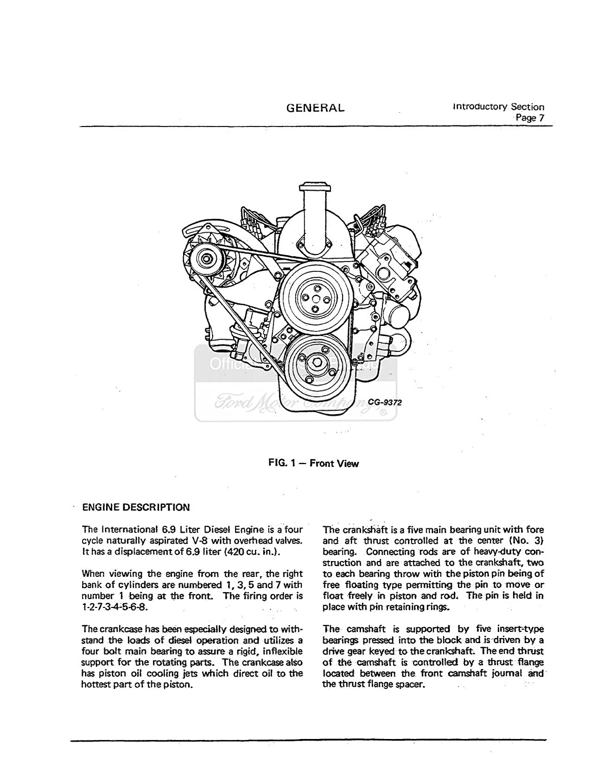 Bishko Automotive Literature 1983 1986 1987 Ford 69 7 3 Powerstroke Diesel Engine Diagram Shop Service Repair Drivetrain Book