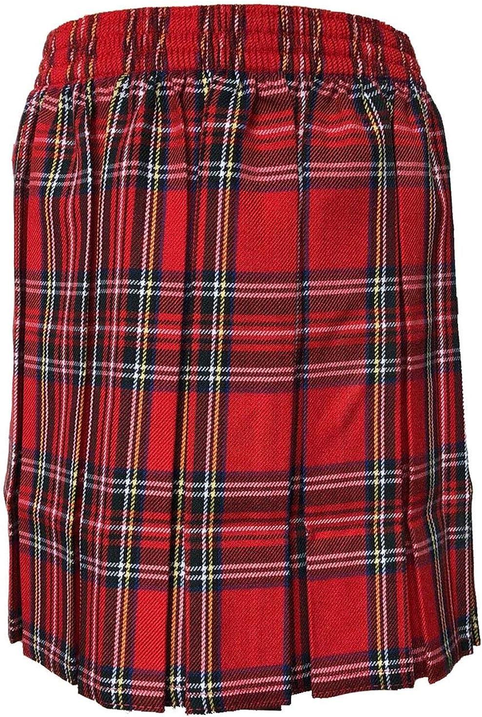 21FASHION Womens Box Plated Tartan Skirt Girls School Skirt
