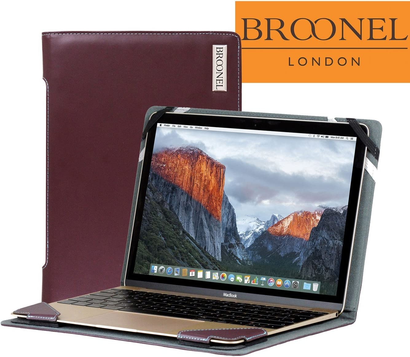Broonel London - Profile Series - Purple Leather Luxury Laptop Case For the Acer Aspire Switch 11 V SW5-173