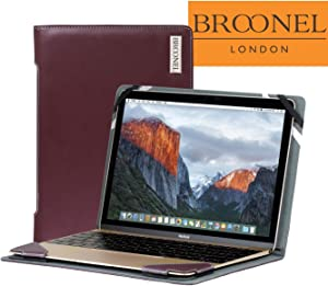 Broonel London - Profile Series - Purple Leather Luxury Laptop Case For the Acer Chromebook R 11 (CB5-132T-C1LK)