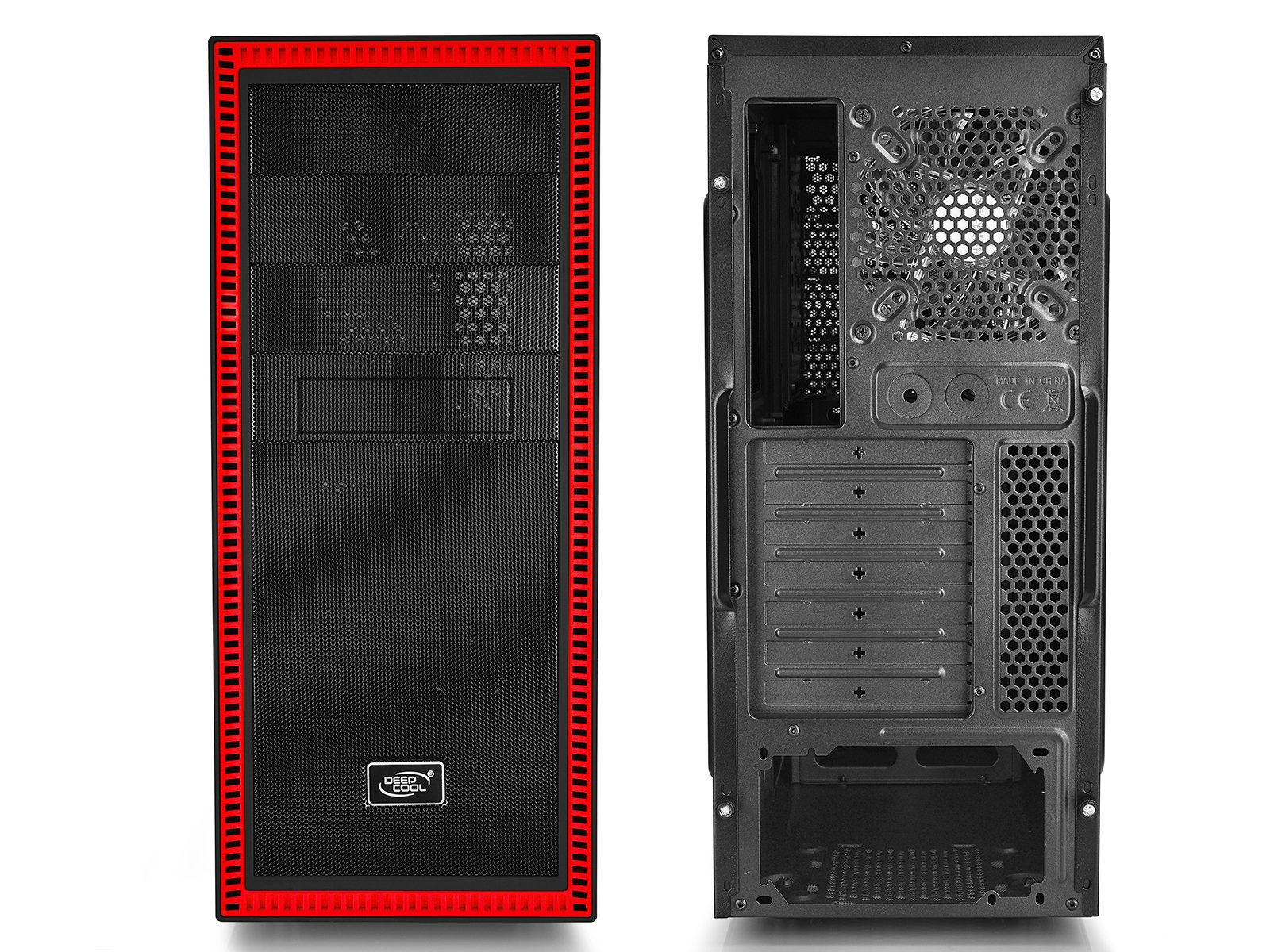 DEEPCOOL TESSERACT SW RD Mid Tower Computer Case, 2 Red LED Fans Side Window Standard ATX Chassis by DEEPCOOL (Image #5)