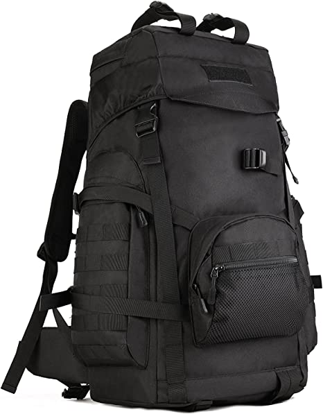 NEW 60L Large Tactical Military Molle Backpack Bag Outdoor Camping Rucksack UK