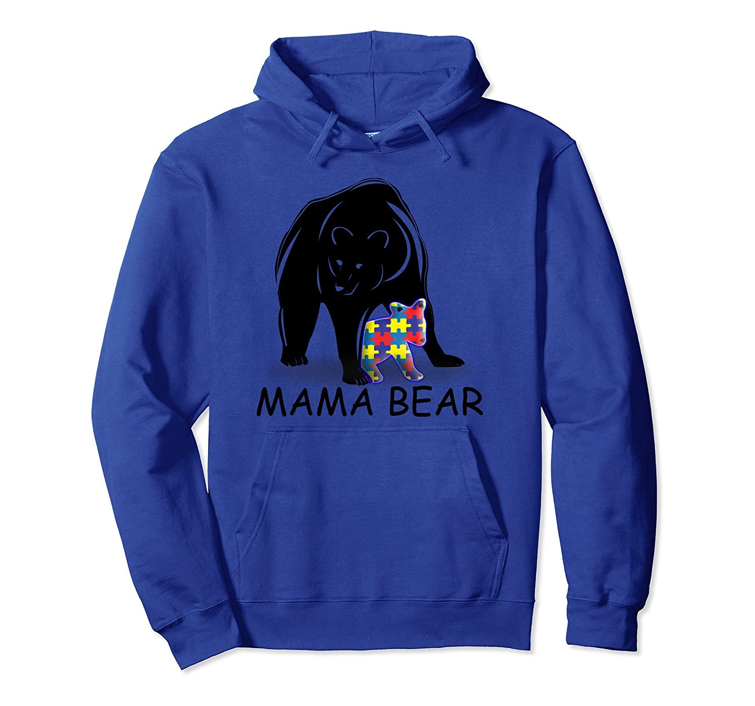 Autism Awareness Shirts - Mama Bear Pullover Hoodie-alottee gift
