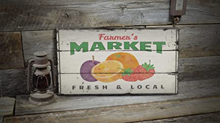 YCCCYOZ Señal de Mercado de Agricultores, decoración de ...
