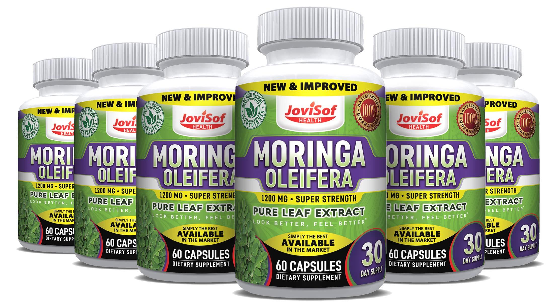 6 Pack Extra Strong 1200mg Moringa Buy 4 Get 2 Free Moringa Capsules| 100% Natural Pure Moringa Oleifera Extract| Moringa Pills Skyrocket Energy! Moringa Powder Capsules 360 Capsules -180 Days Supply
